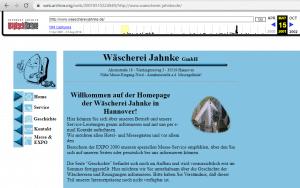 Jahnke Website - Stand 2001